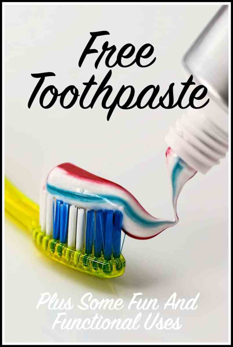 Creative Uses for Free Toothpaste