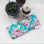 Blue Floral Lavender Eye Pillow
