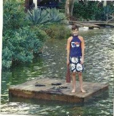 Brodie on floating dock_small