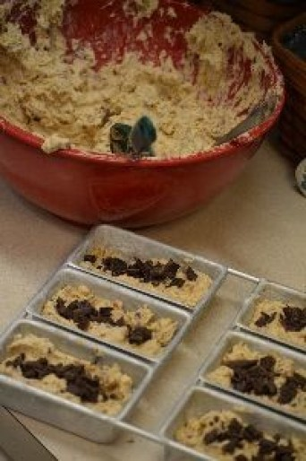 add chocolate then cover with more batter_small