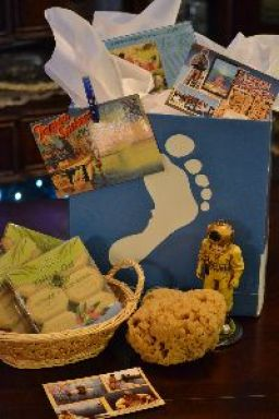gift of olive oil soaps and a tarpon springs sponge_small