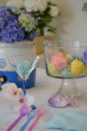 3 coconut ice cream balls and blooms_small