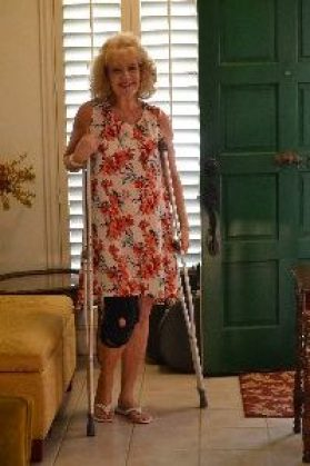Crutches and Julie_small