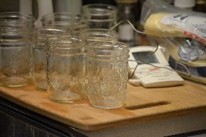 sterilized jars and temp thermometer_small