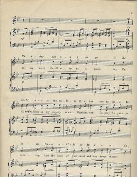 Aloha Oe Music Sheet 3