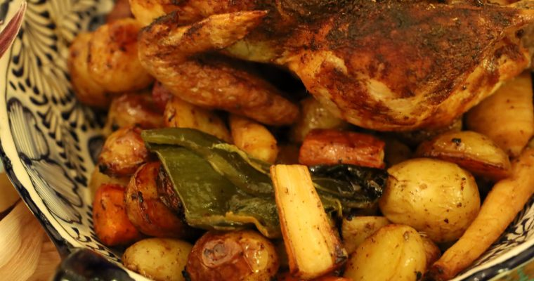 Our Mexican Inspired Thanksgiving Roasted Chicken and Vegetables