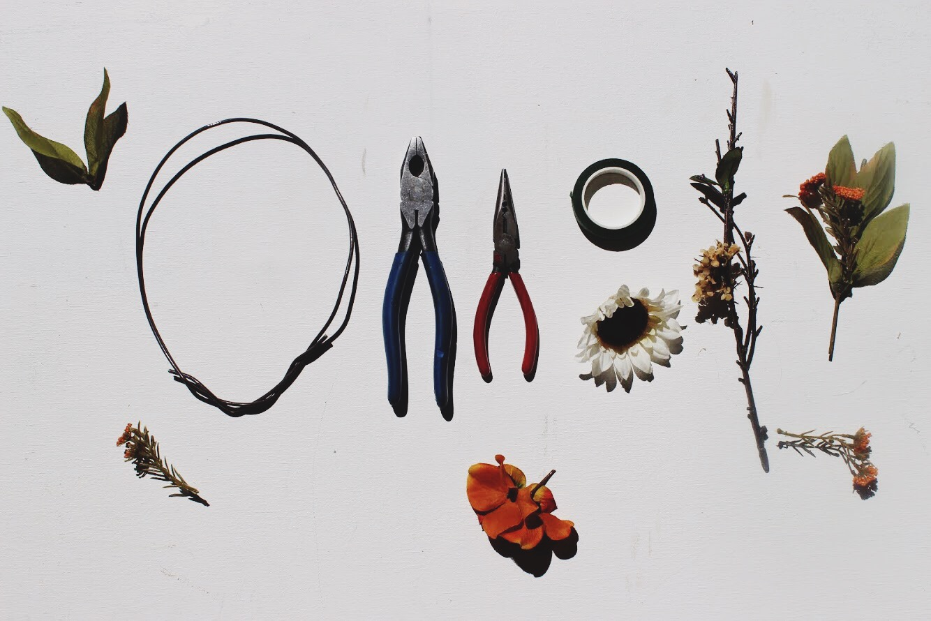 How to make a fall flower crown wire i just got some out of my dads garage any kind should work as long as its thick and sturdy enough to attach flowers too but easy enough izmirmasajfo Images