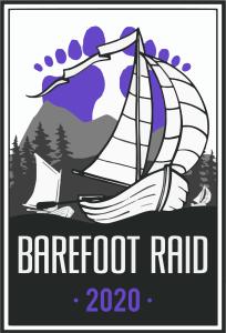 Barefoot Raid logo 2020 by Liam Reese