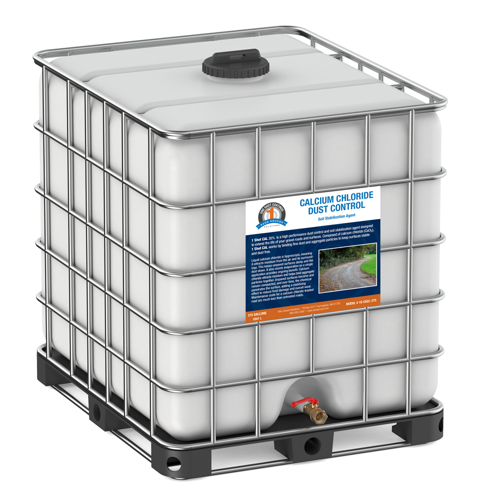 One Shot Calcium Chloride Dust Control - 275 Gallon Tote