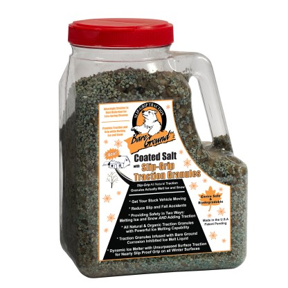 Bare Ground Granular Ice Melt with Infused Traction Granules -12 LB Jug