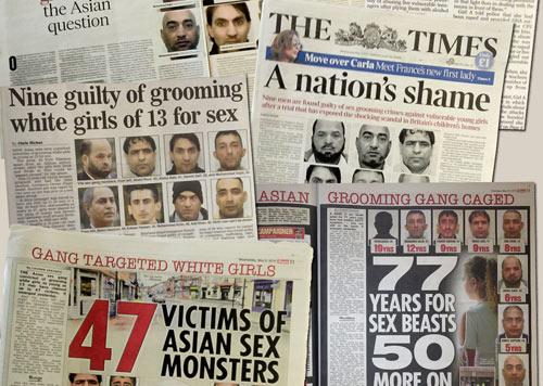UK media schmucks use the politically correct term 'Asians' instead of Muslims