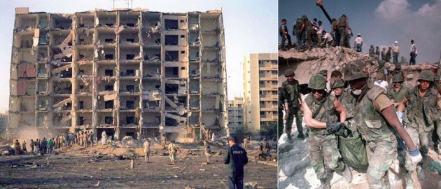 This was the Marine barracks in Beirut, Lebanon, the site of a massive truck-bombing that killed 241 U.S. servicemen in 1983. The attack was orchestrated by Hezbollah, the fanatical Islamic terrorist group funded, trained and inspired by Iran's deadly regime.