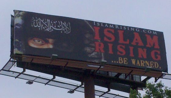 CAIR tried to have this billboard for what they called an 'Islamophobic' movie taken down, but lost.