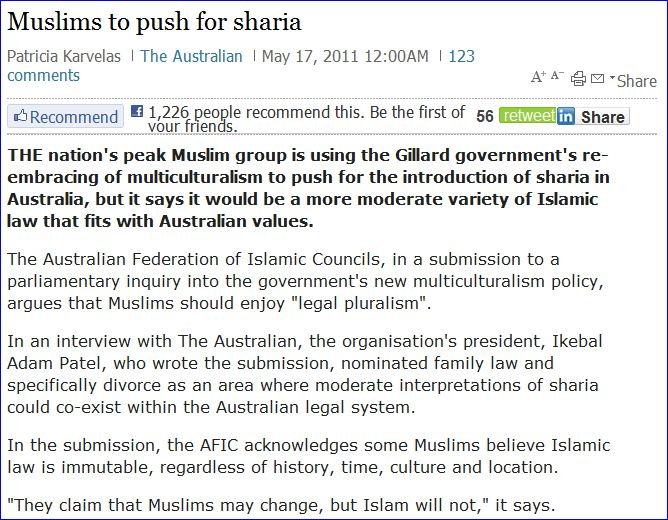 australian-muslims-push-for-sharia-17-5-2011