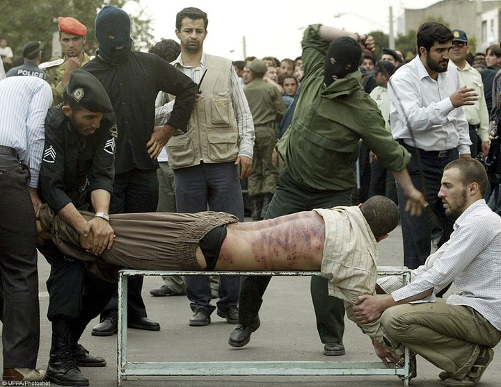 Under the Sharia, flogging is a common punishment for both men and women
