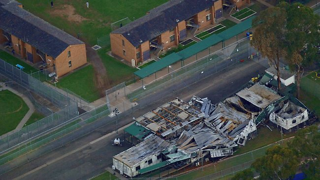 Villawood Detention Center after being torched by Muslim invaders