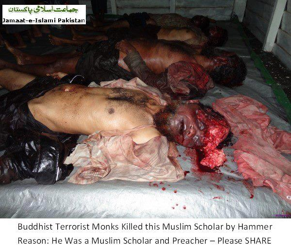 This is NOT a Muslim scholar, this is another Muslim thug who raped Buddhist little girls