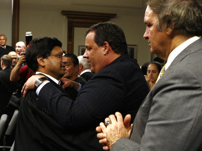 Governor Chris Christie attends the Swearing-In Ceremony for Sohail Mohammed as New Jersey Superior Court Judge at the Passaic County Courthouse in Paterson, N.J. on Tuesday, July 26, 2011.