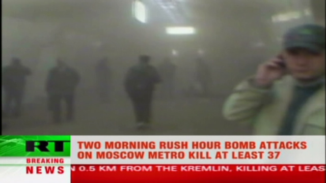 One of the Moscow Subway bombings by Chechen Muslims