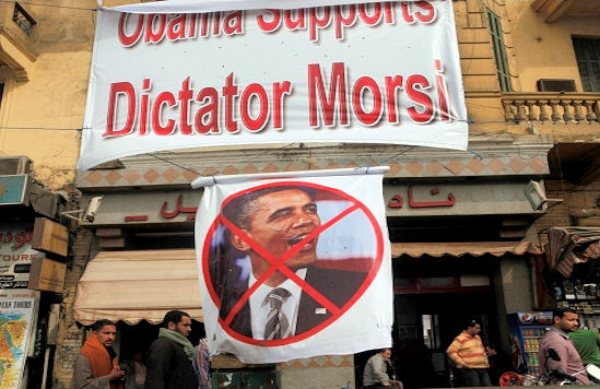 This is what the anti-Morsi protesters think of Obama