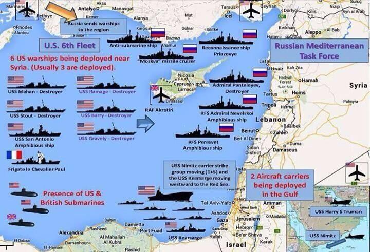 Medi flota enfrentamiento
