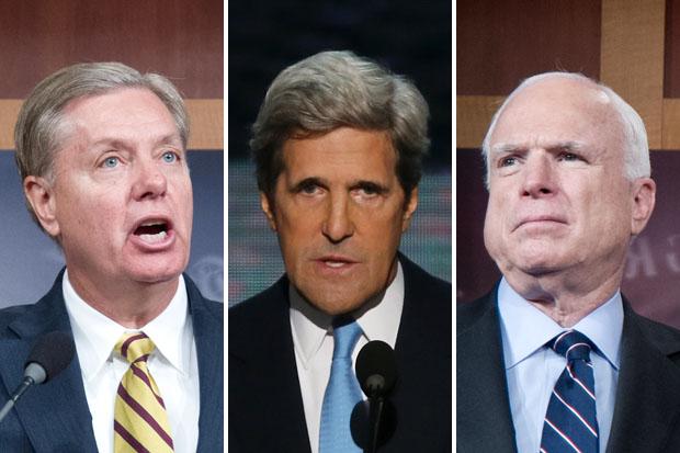 Srta. Lindsey, Juan estaba en Vietnam Kerry y John McCain no le fue mucho mejor