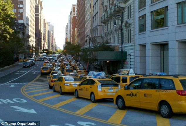 Taxis Parked for Prayer NY
