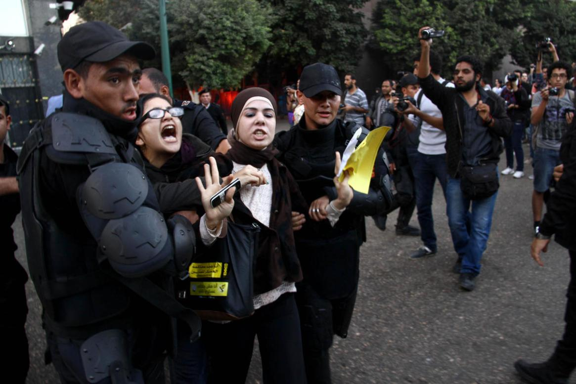 Egyptian police detain pro-Morsi female protesters