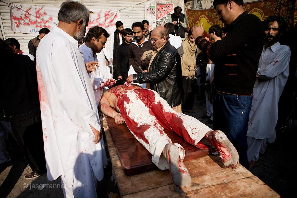 Ashura Festival 27 de diciembre 2009 en Islamabad, Rawalpindi, Pakistán.