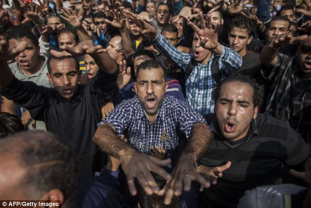 Morsi's supporters angrily raged outside the court