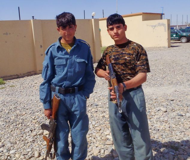 The two Afghan police scum who killed the soldiers