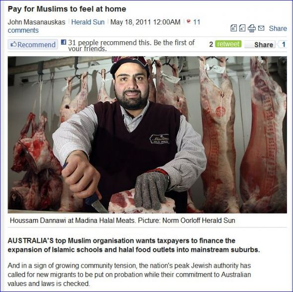 australia-muslims-want-taxpayers-dole-to-help-feel-more-at-home-18-5-2011