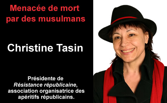 Christine Tasin is the woman who heads Resistance Republicaine, one of the foremost anti-Islamization organizations in France