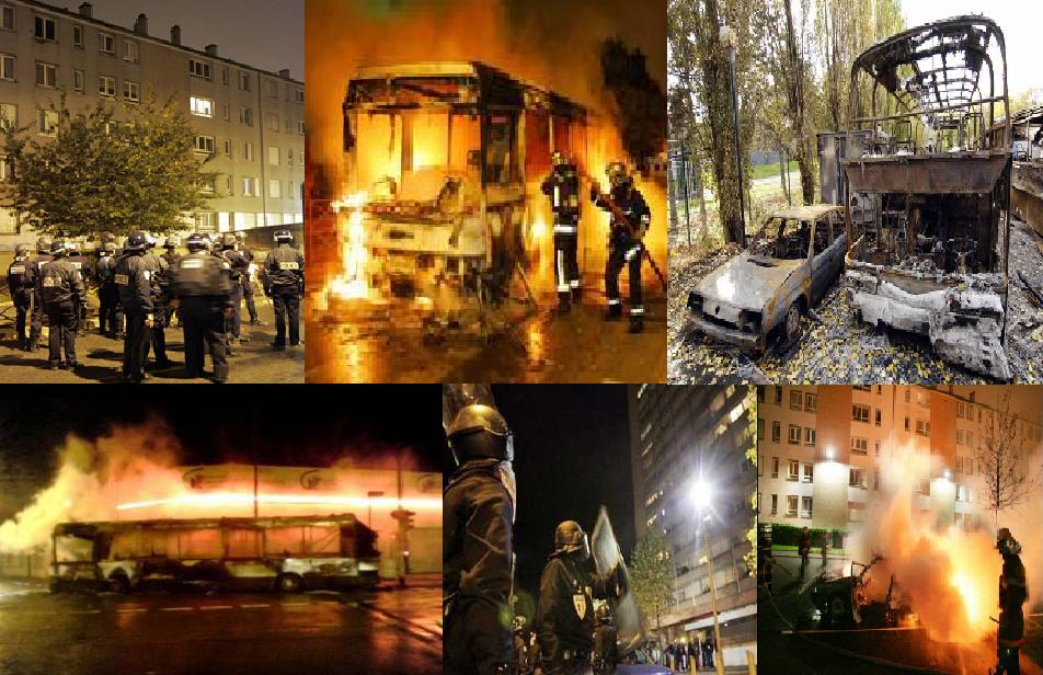 Muslim riots are common several times a year in France