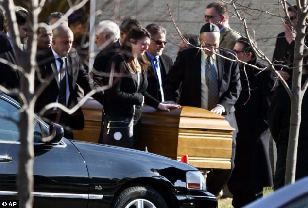 Judging by the yarmulkes on the pallbearer, Friedland was Jewish