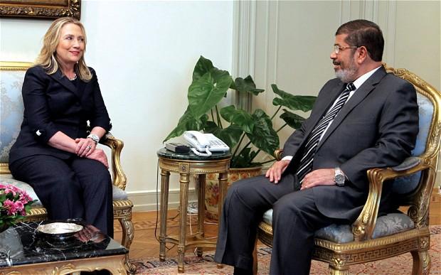 Clinton lovefest with Mohamed Morsi