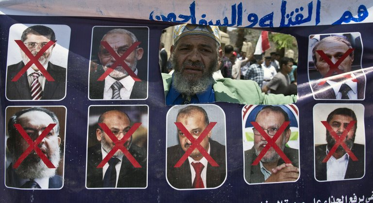 New government has been rounding up and jailing members of Muslim Brotherhood