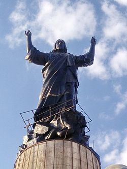 Statue of Christ upon the pinnacle