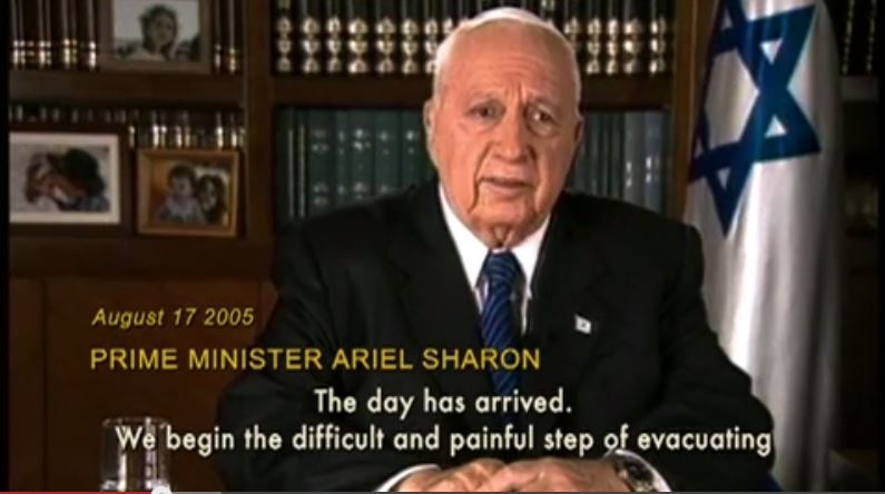 Ariel Sharon-2005-Anunciando-Gaza-Retiro