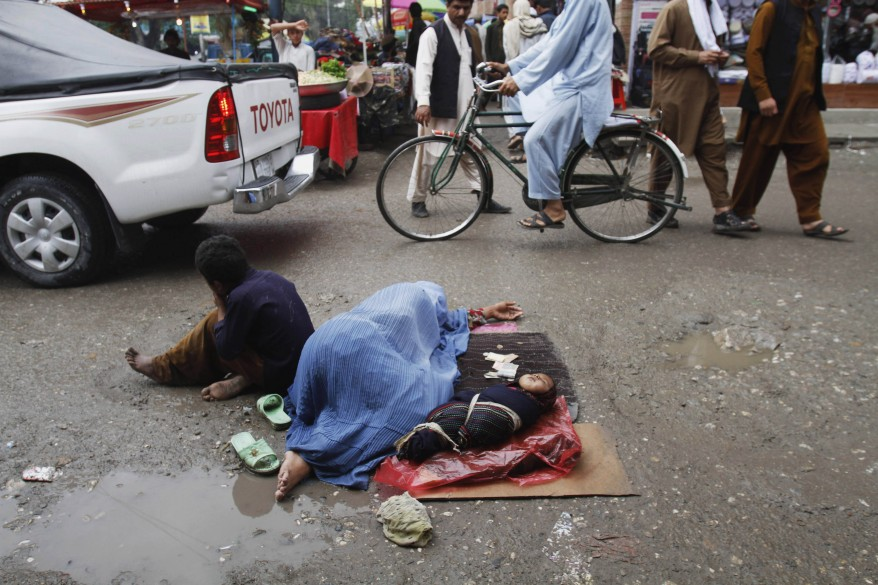 NOW women and children sleeping in the street