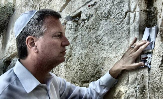 Yo apuesto a estos furiosos Judios NYC encogió en el sitio de DeBlasio en el Muro de los Lamentos en Jerusalén