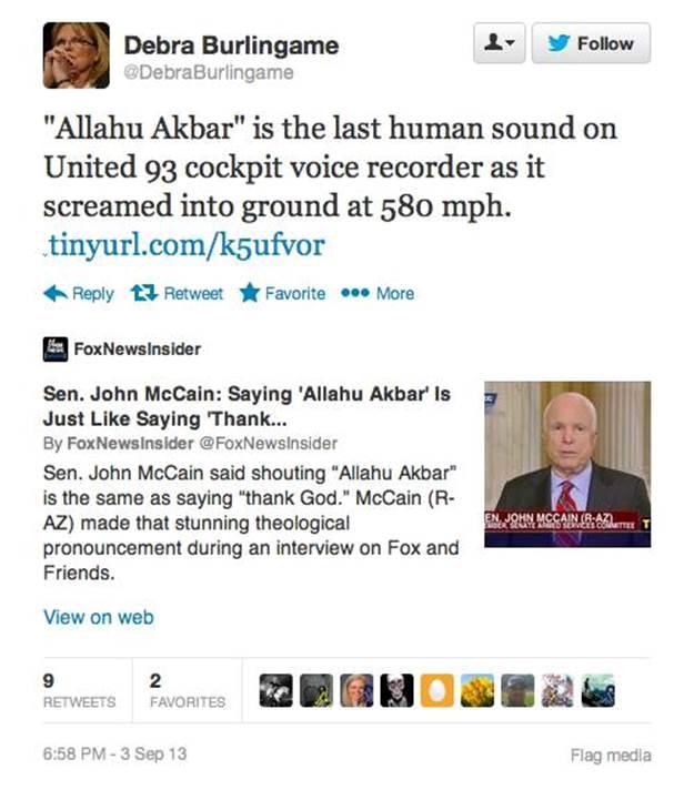 John McCain Allahu Akhbar