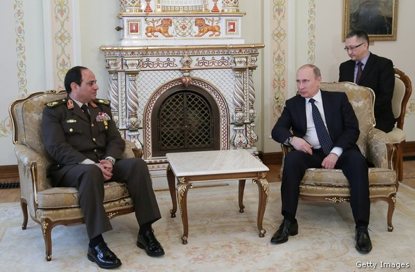 President apparent, former Egyptian army chief Abdel Fattah al-Sisi  has formed new ties with Russian President Vladimir Putin