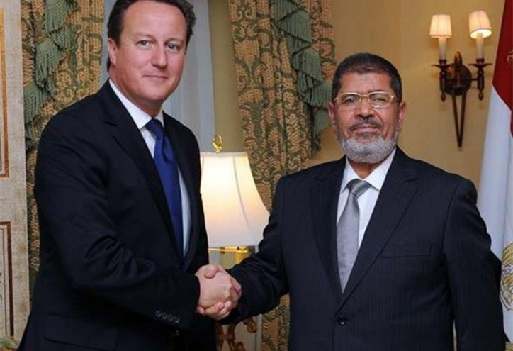 Gee, it was just last year that David Cameron warmly welcomed Muslim Brotherhood's Mohamed Morsi as president of Egypt