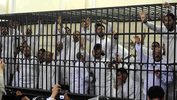 Algunos de los Hermanos Musulmanes matones / terroristas condenados a muerte