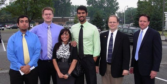 Paul Reskella, David Wood, Nageen Mayel, Dr. Nabeel Querishi, State Representative Tom McMillan, and Attorney Robert Muise