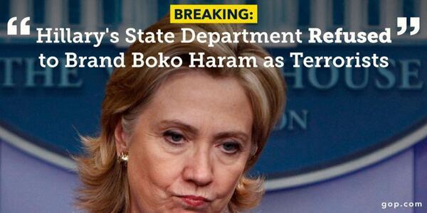 Hillary, Clinton y Boko Haram-