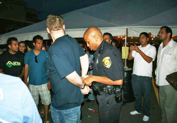 Christians being arrested at Arab American Festival