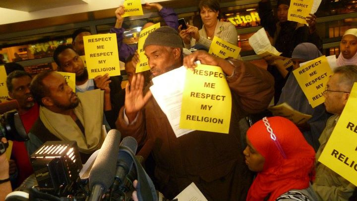 Muslim workers protest Hertz