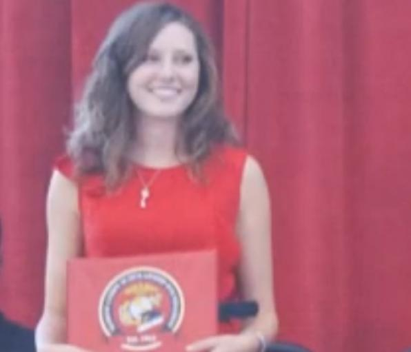 As the daughter of U.S. Marine, Allison was the proud recipient of a college scholarship
